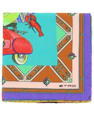 Petit carré de soie Bangalore ETRO