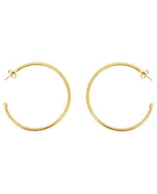 Mila gold plated hoop earrings GAS BIJOUX
