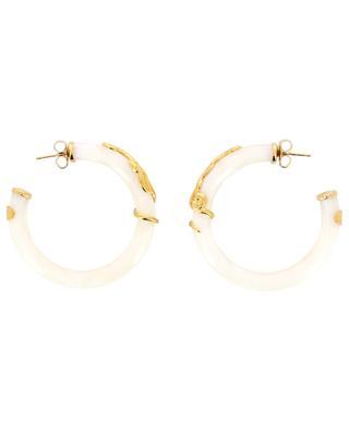 Cobra gold plated hoop earrings GAS BIJOUX
