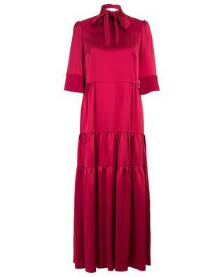 Langes Kleid aus Satin Avelina VILSHENKO