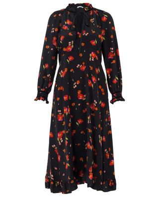 Geblümtes Kleid aus Seide Mona VILSHENKO