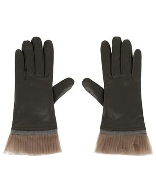 Leather gloves with tulle FABIANA FILIPPI