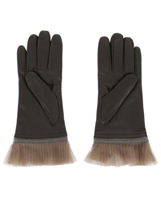 Leather gloves with tulle FABIANA FILIPPI