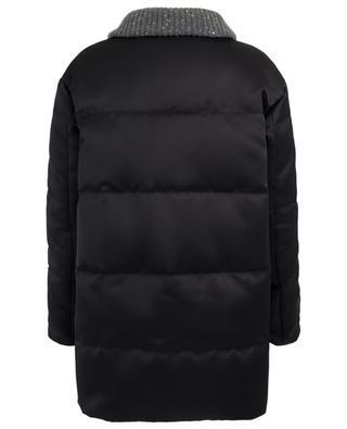 Long material blend down jacket FABIANA FILIPPI