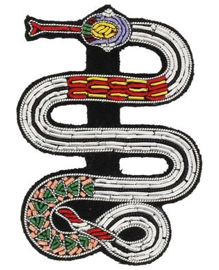 Serpent embroidered brooch MACON & LESQOY
