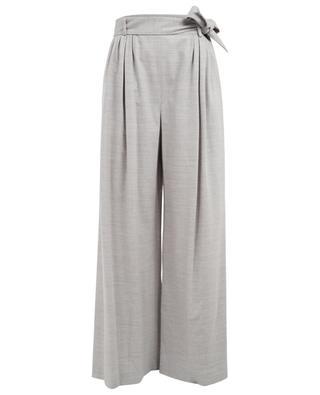 Pantalon large en laine mérinos et cachemire FABIANA FILIPPI