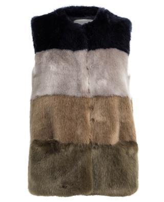Faux Seasons faux fur vest FUZZ NOT FUR