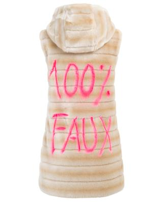 Oh my dear faux fur vest FUZZ NOT FUR