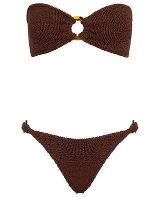 Gloria tortoise detail bandeau bikini HUNZA G
