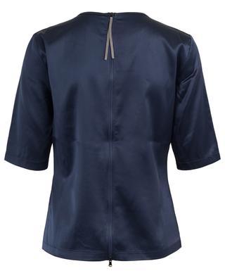 Embroidered silk blend top FABIANA FILIPPI