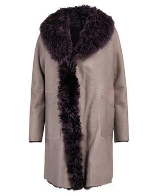 Love reversible shearling coat NOVE LEDER