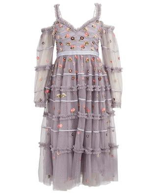 Besticktes Kleid aus Tüll NEEDLE &THREAD