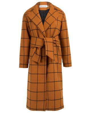 Wool blend check coat SELF PORTRAIT