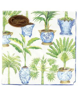 Potted Palms luncheon napkins CASPARI