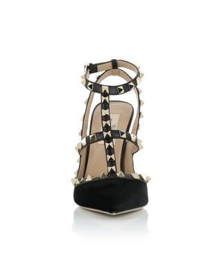 Escarpins en velours et cuir Rockstud VALENTINO