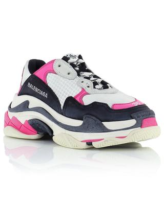 Triple S leather and mesh sneakers BALENCIAGA