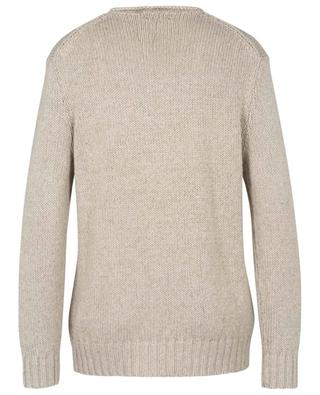 Linen and cotton blend jumper with American flag POLO RALPH LAUREN