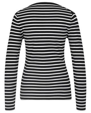 Striped long-sleeved T-shirt with crest patch POLO RALPH LAUREN