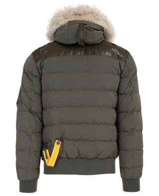Grizzly leather and fur bomber jacket PARAJUMPERS
