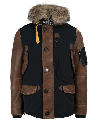 Forrest fur and shearling adorned parka PARAJUMPERS