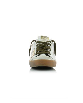 Used-Look Sneakers aus Leder Superstar GOLDEN GOOSE