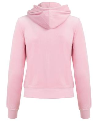 Sweat-shirt zippé en velours Robertson JUICY BY JUICY COUTURE