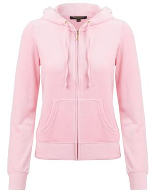 Sweat-shirt zippé en velours Laurel JUICY BY JUICY COUTURE