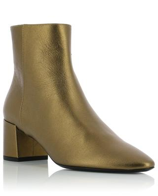 Bottines en cuir métallisé Loulou 50 Zip SAINT LAURENT PARIS