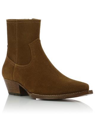 Lukas 40 Zip suede ankle boots SAINT LAURENT PARIS
