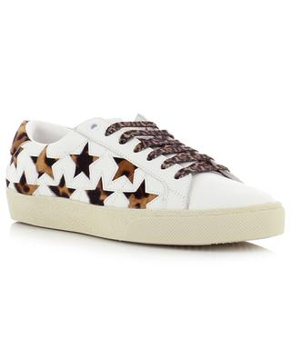 Court Classic leather and calf hair sneakers SAINT LAURENT PARIS