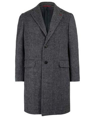 Mantel aus Wolle und Kaschmir Moleskin ISAIA