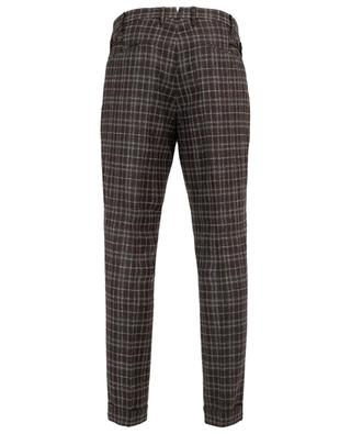 Super 110's chequed virgin wool trousers PT01