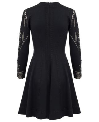 Lace embellished wool, silk and cashmere dress ERMANO SCERVINO