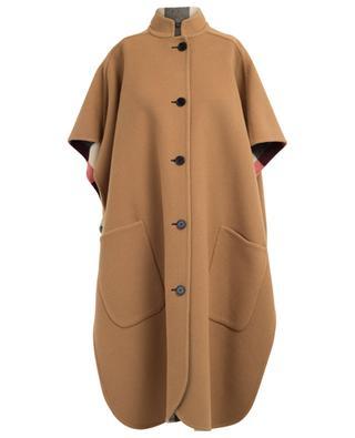 Reversible wool blend cape BURBERRY