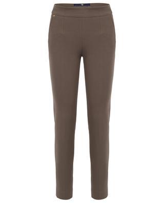 Pantalon slim en coton PAMELA HENSON