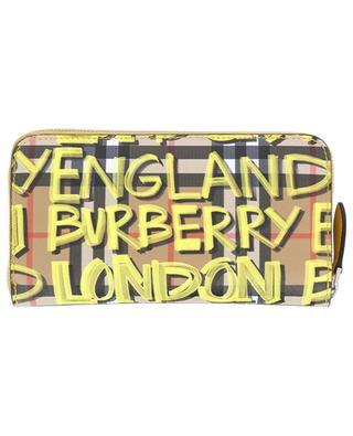 Porte-monnaie zippé en PVC BURBERRY