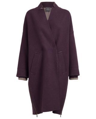 Manteau en laine vierge, cachemire et soie LORENA ANTONIAZZI
