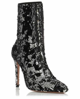 Costes glitter fabric ankle boots AQUAZZURA