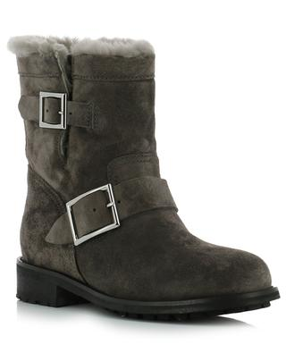 Youth suede and shearling ankle boots JIMMY CHOO
