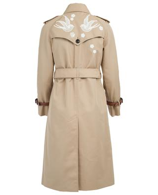 Cotton blend trench coat COACH