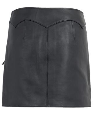 Leather mini skirt COACH