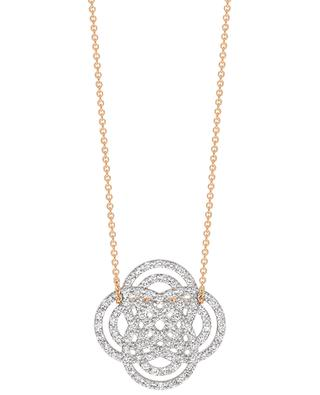 Purity Mini pink gold necklace with diamonds GINETTE NY