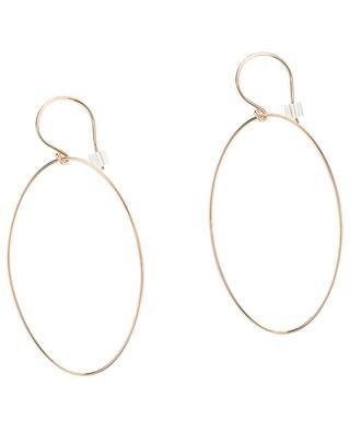 Boucles d'oreilles en or rose Ellipse Earrings GINETTE NY