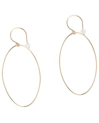Ellipse pink gold earrings GINETTE NY