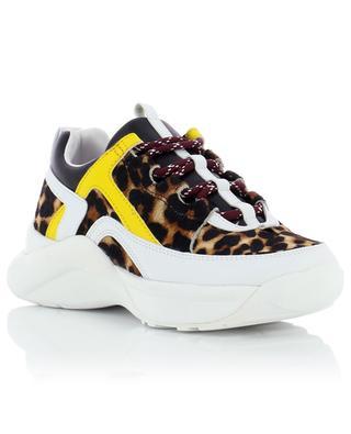 Lunar leather and calf hair sneakers KURT GEIGER LONDON