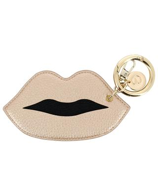 Taschenanhänger aus Kunstleder Metallic Lips IPHORIA