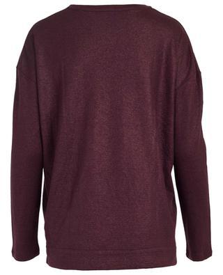 T-shirt à manches longues en coton et cachemire MAJESTIC FILATURES