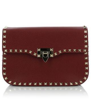 Rockstud grained leather shoulder bag VALENTINO