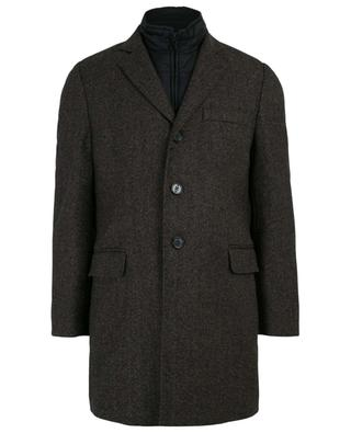 Short virgin wool and cashmere coat FAY