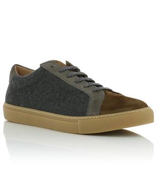 Flannel and suede sneakers ELEVENTY